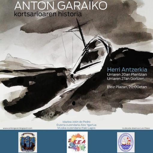 Anton Garaiko antzezlanaren kartela